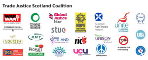 logos of organisations in the trade justice Scotland coalition