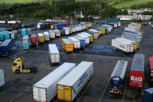 containers on the dockside at Cairnryan