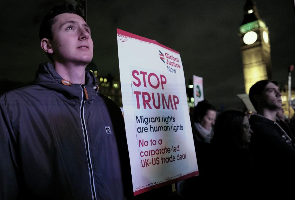 Stop trump placard
